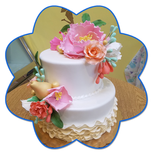 Tropical Flower Cake